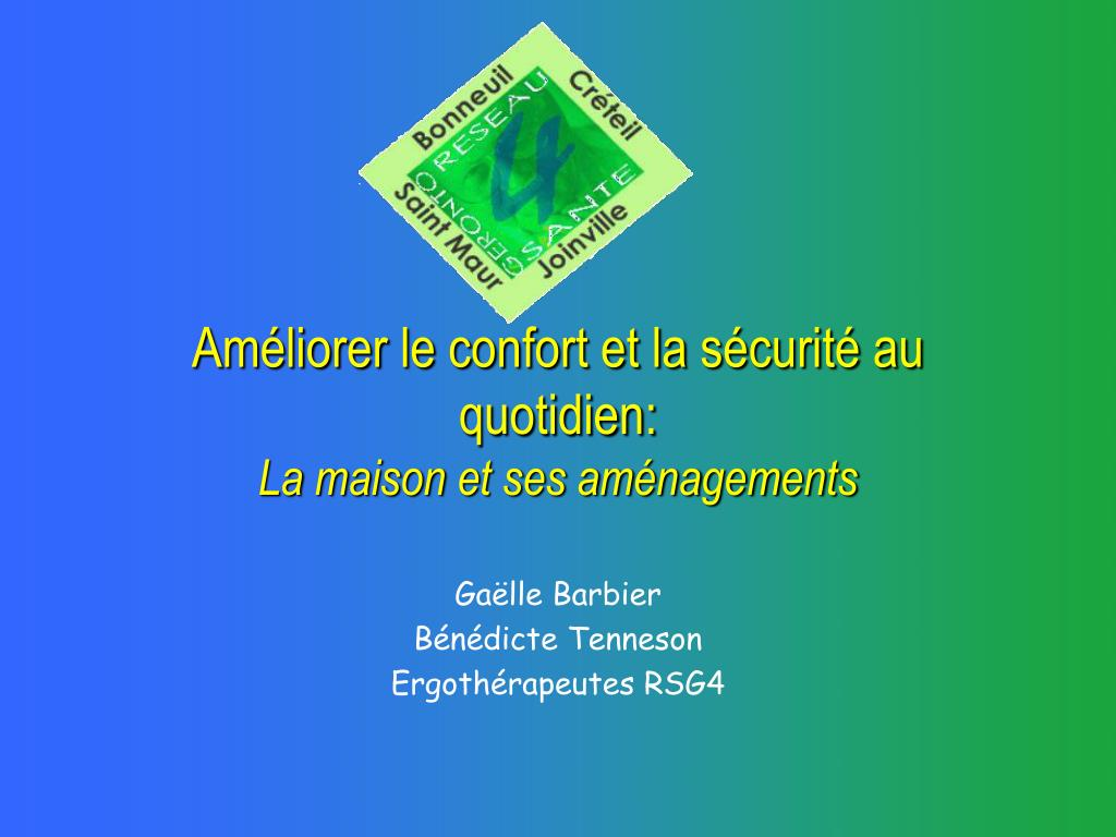 am liorer le confort et la s curit au quotidien la maison et ses am nagements l.