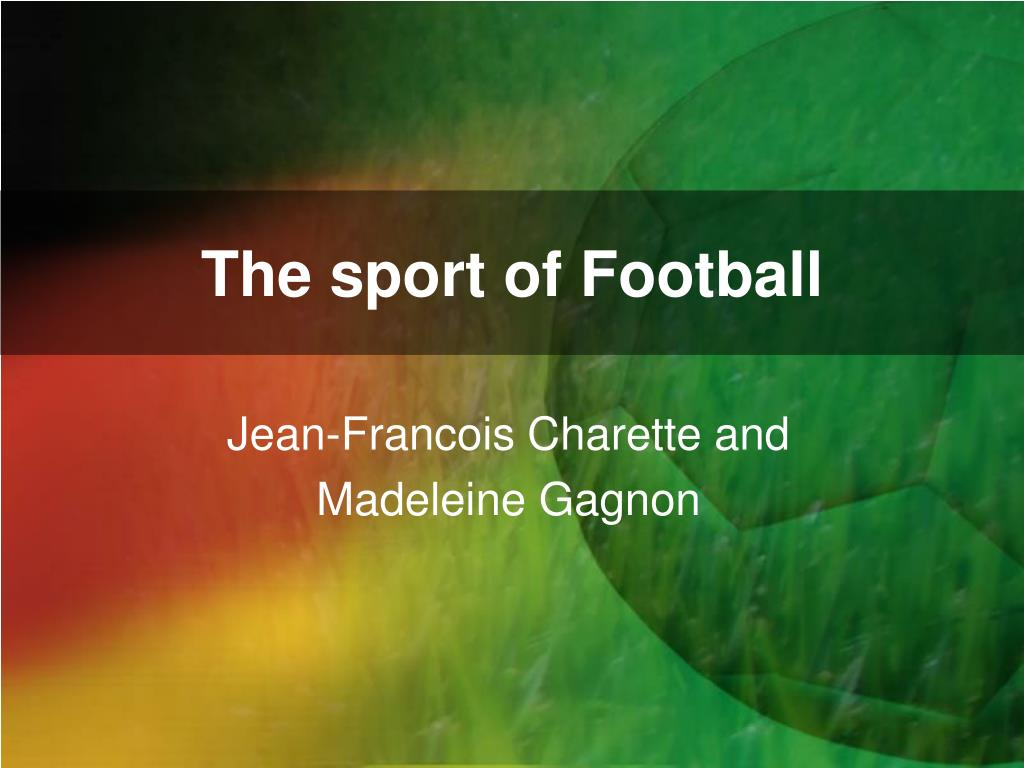 the sport of football l.