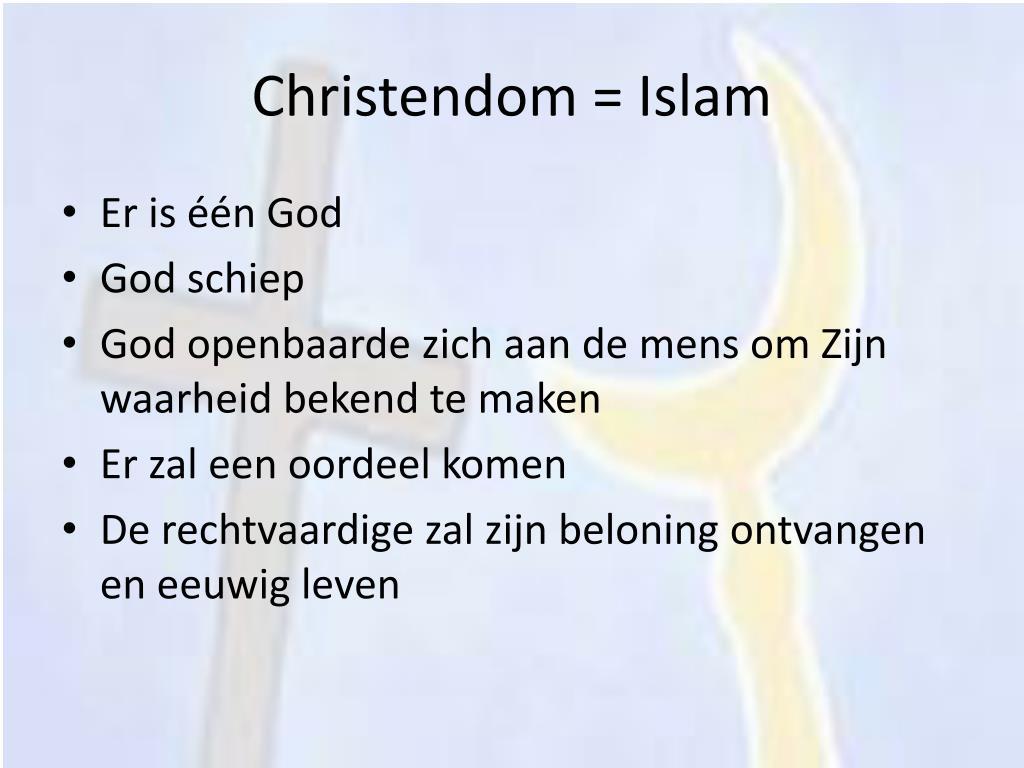 Christendom = Islam