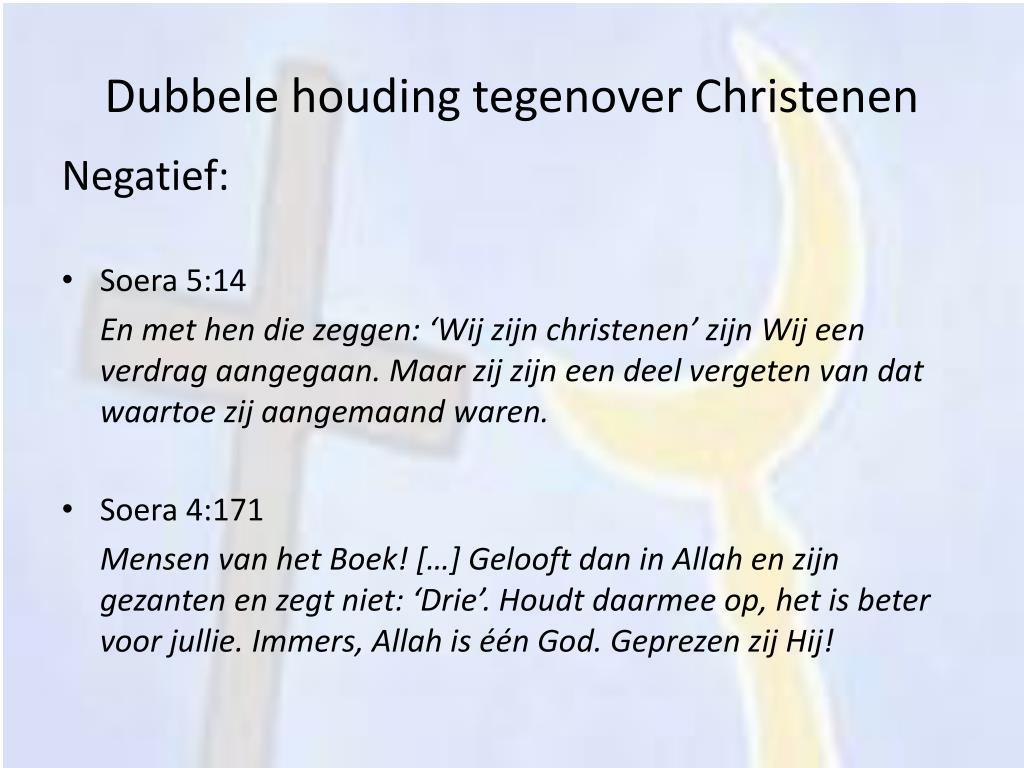 Dubbele houding tegenover Christenen