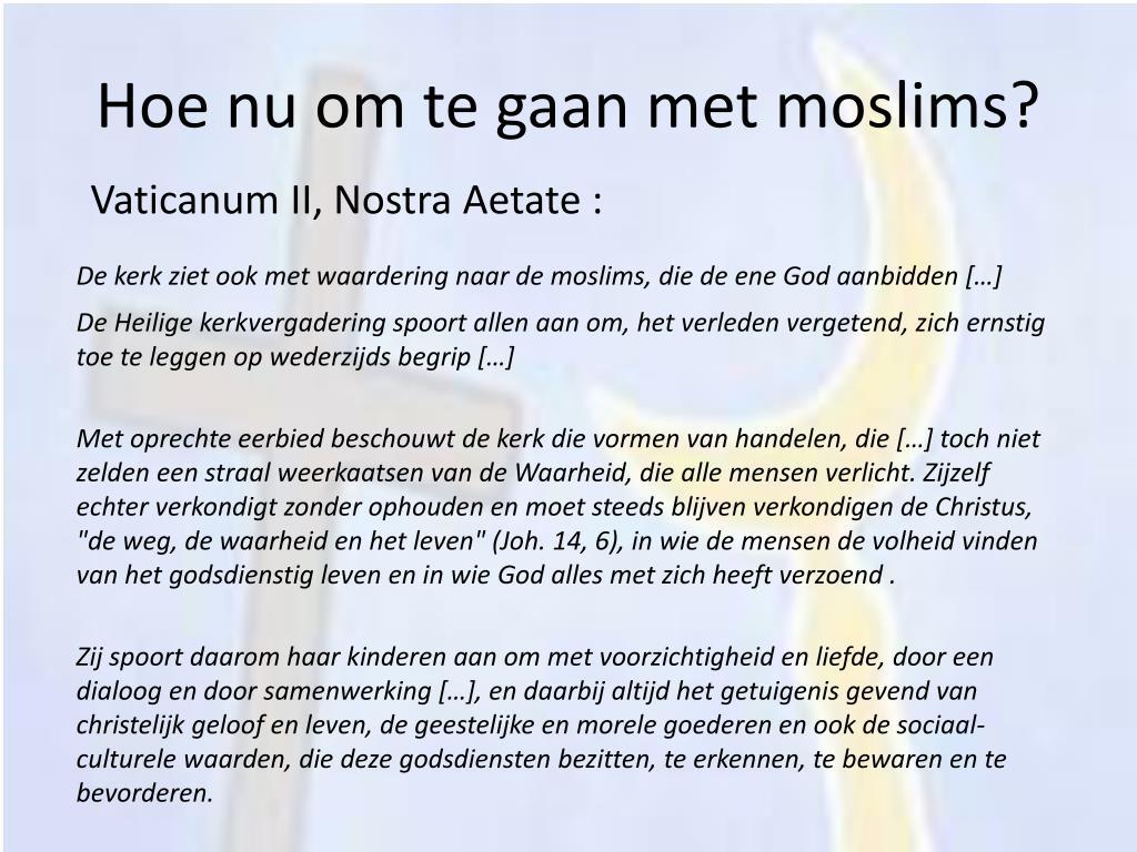 Hoe nu om te gaan met moslims?