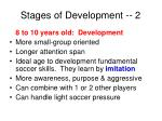 stages of development 2