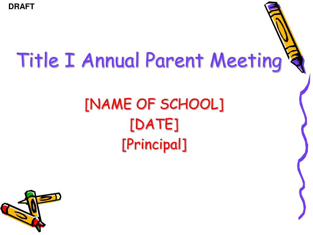 title i annual parent meeting l.
