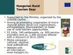 hungarian rural tourism days