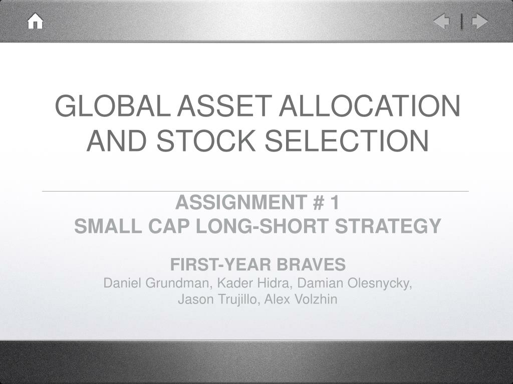 global asset allocation and stock selection l.