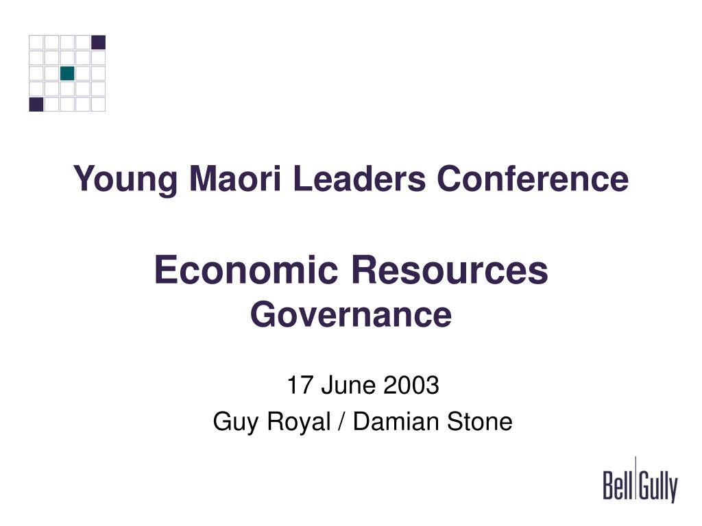 young maori leaders conference economic resources governance l.