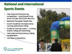 national and international sports events