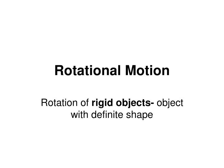 rotational motion n.