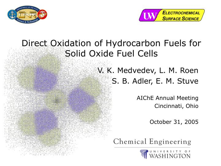 direct oxidation of hydrocarbon fuels for solid oxide fuel cells n.