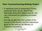 river tourism canoeing rafting project