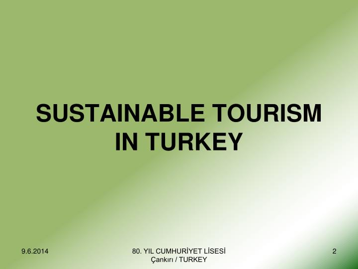 Sustainable tourism in turkey