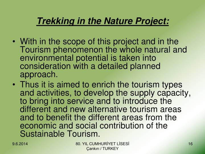 Trekking in the Nature Project: