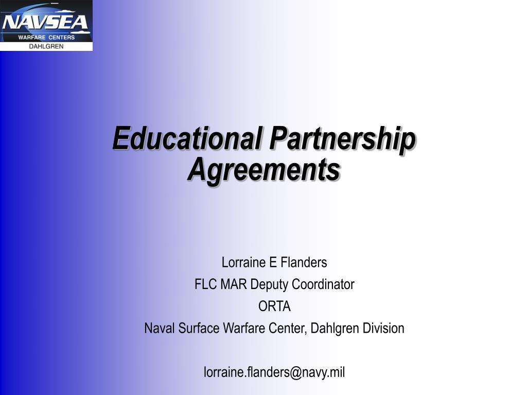 educational partnership agreements l.