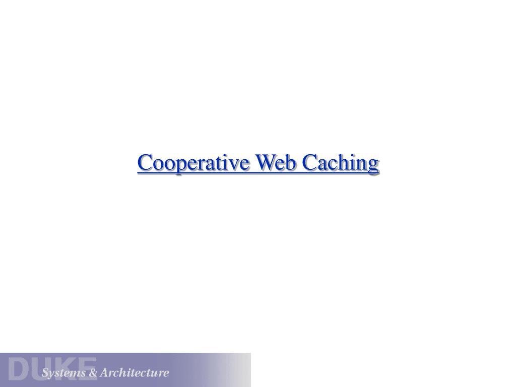 cooperative web caching l.