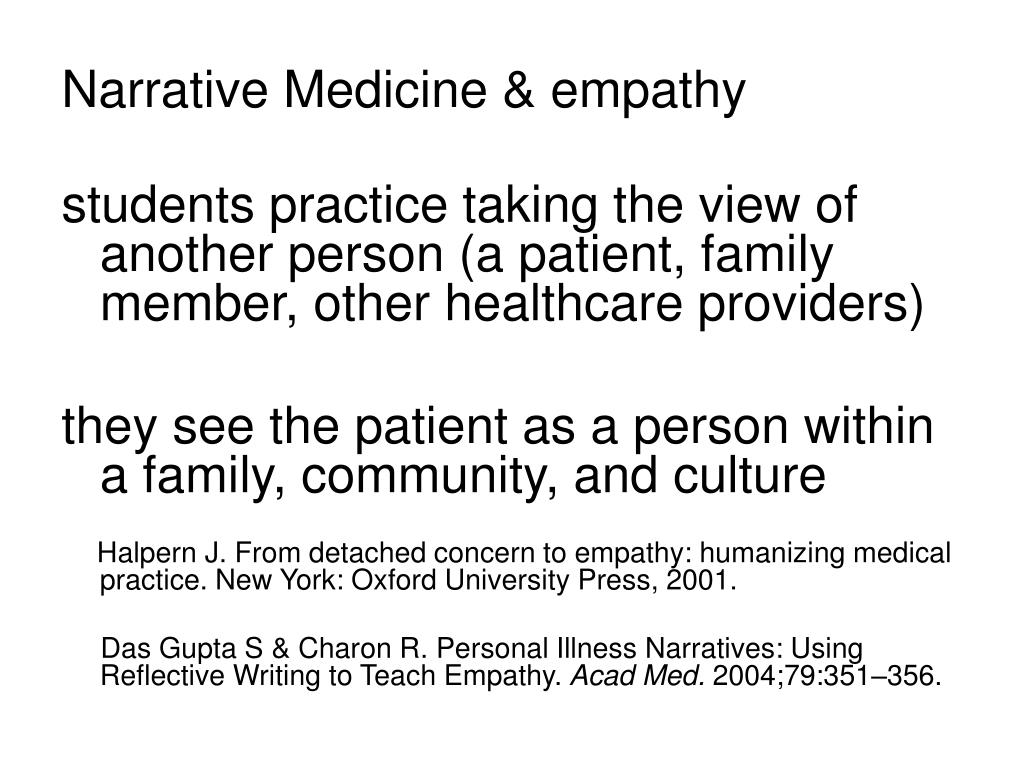 Narrative Medicine & empathy