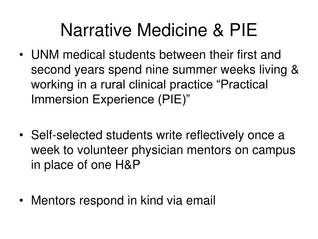 Narrative Medicine & PIE