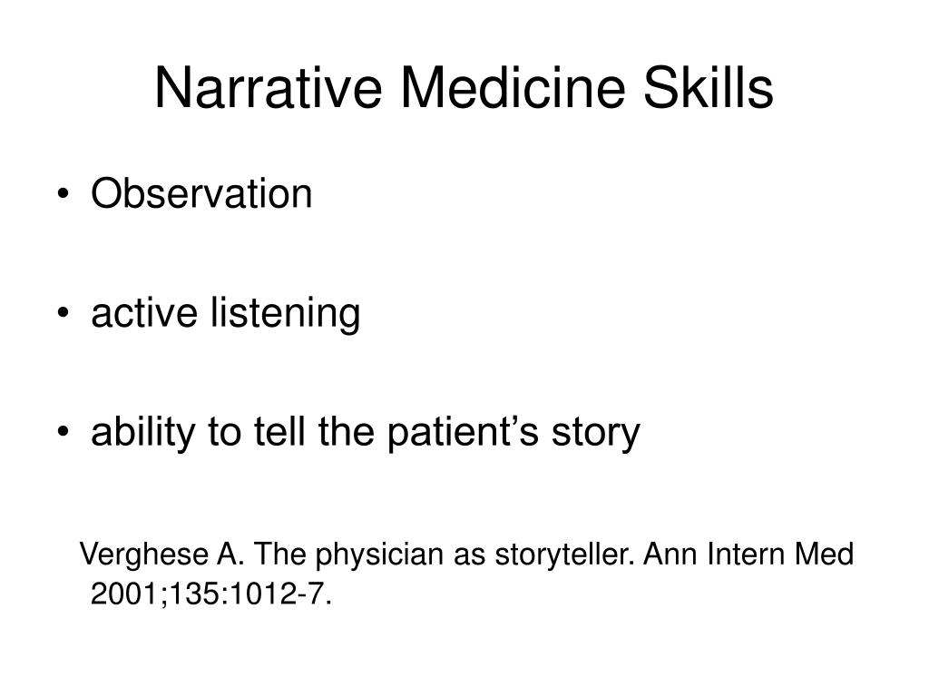Narrative Medicine Skills