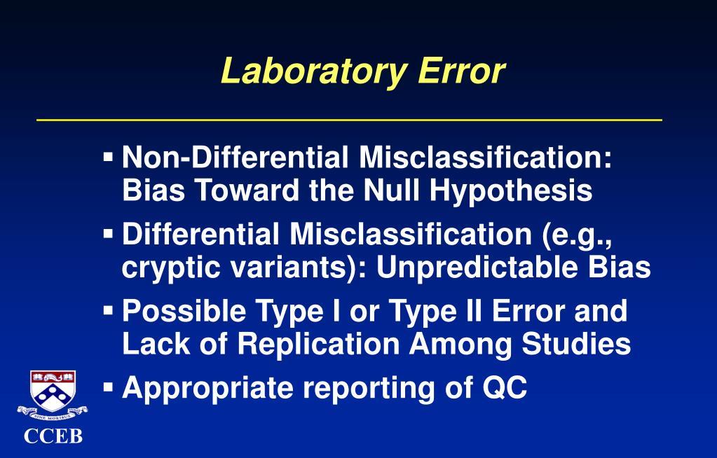 Laboratory Error