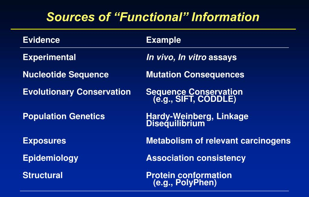 """Sources of """"Functional"""" Information"""