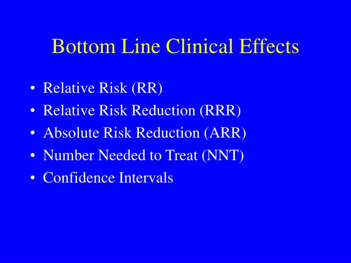 Bottom Line Clinical Effects