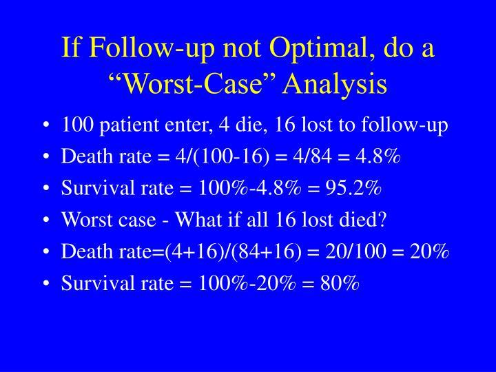 "If Follow-up not Optimal, do a ""Worst-Case"" Analysis"