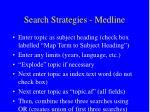 search strategies medline