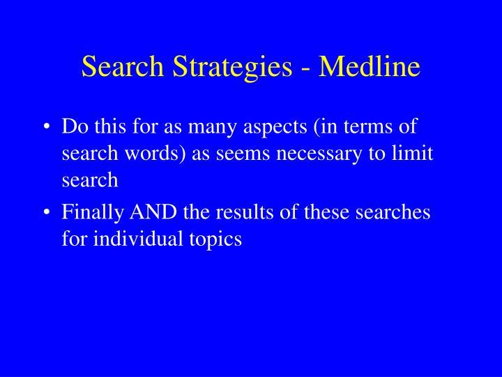 Search Strategies - Medline