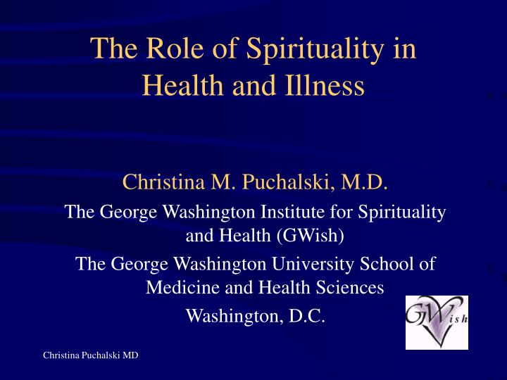 the role of spirituality in health and illness n.