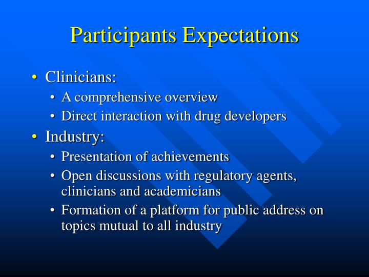Participants Expectations