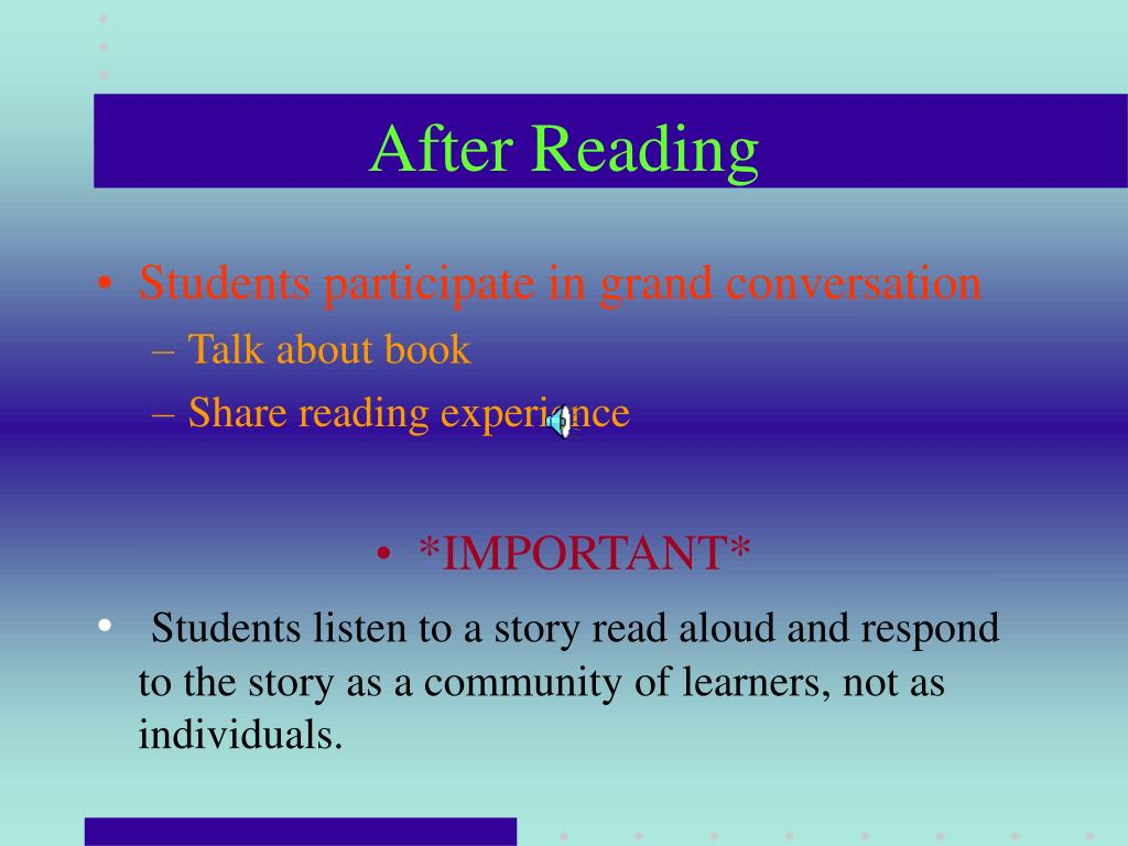 After Reading