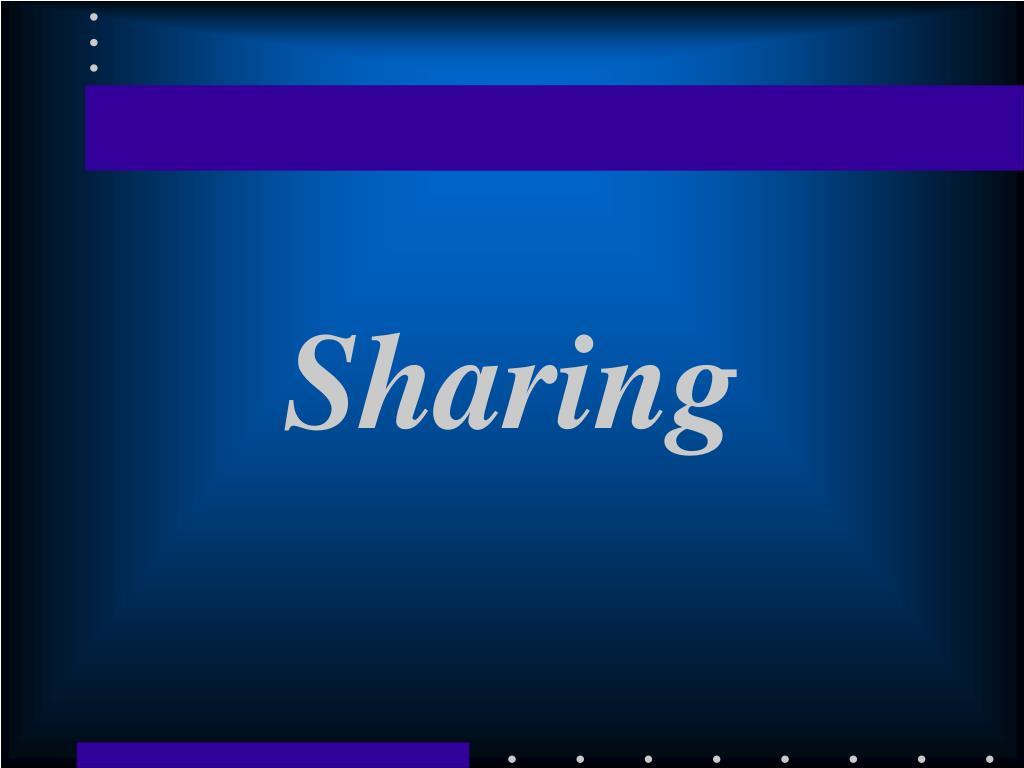 sharing l.