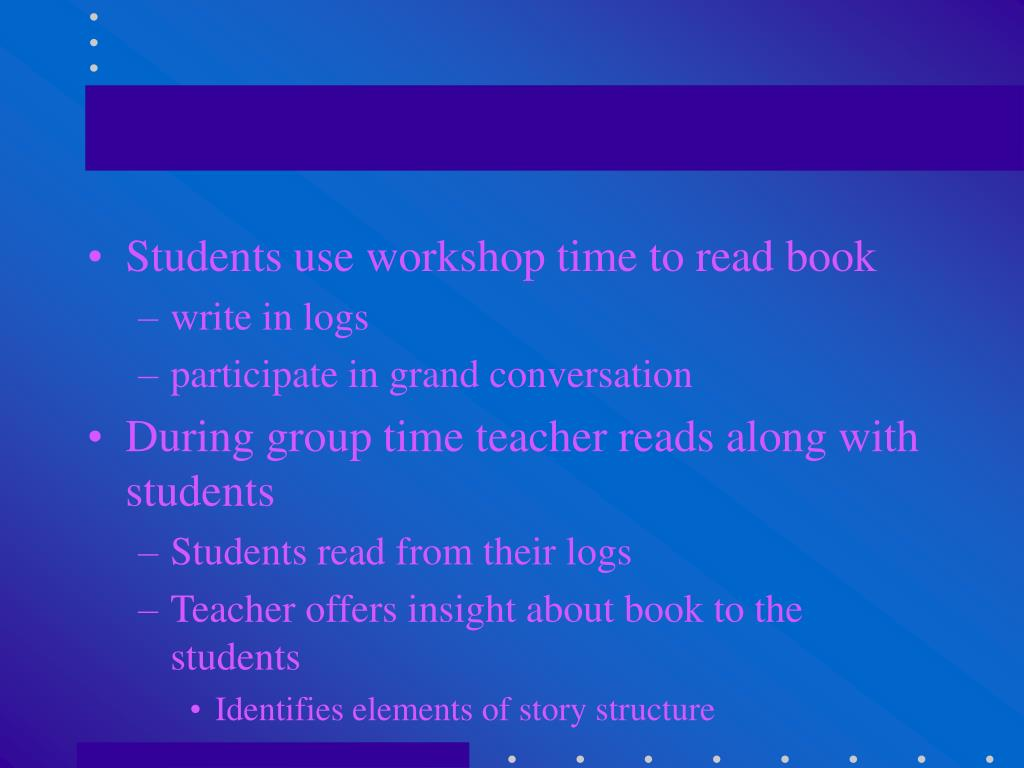 Students use workshop time to read book