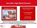 your risk high blood pressure