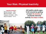 your risk physical inactivity