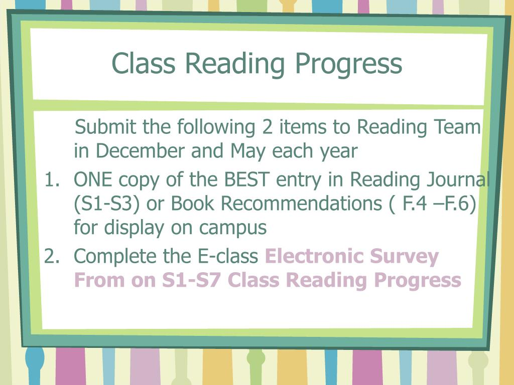 Class Reading Progress