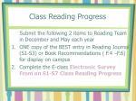 class reading progress