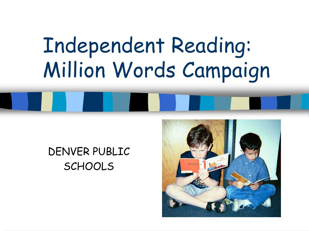 independent reading million words campaign l.