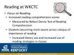 reading at wkctc46