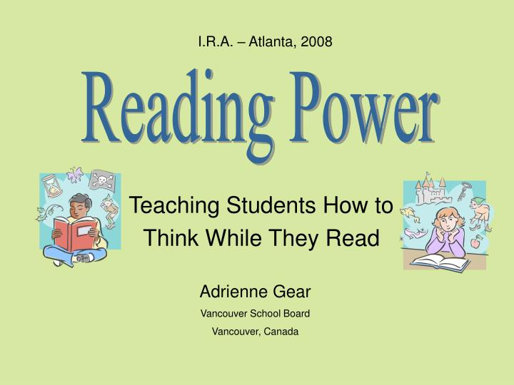 teaching students how to think while they read n.
