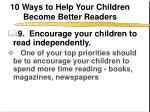 10 ways to help your children become better readers10