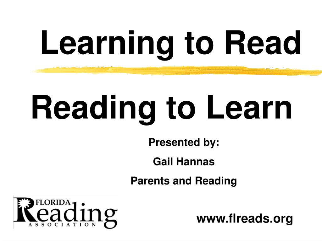 learning to read l.