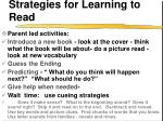 strategies for learning to read