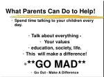 what parents can do to help