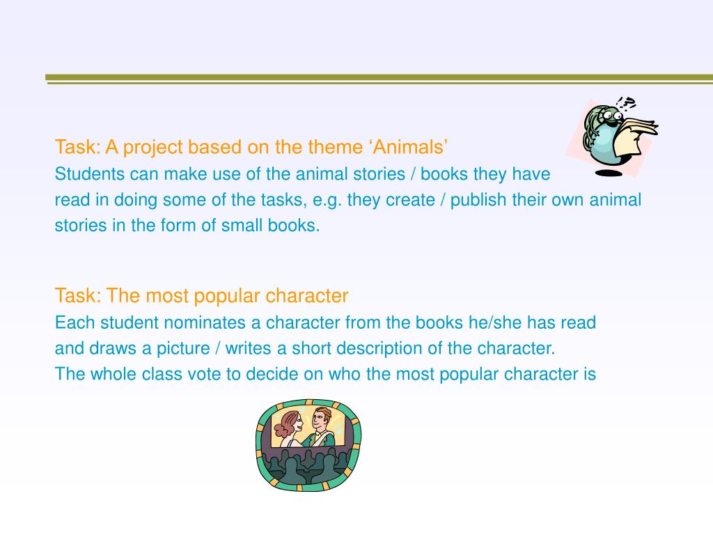 Task: A project based on the theme 'Animals'