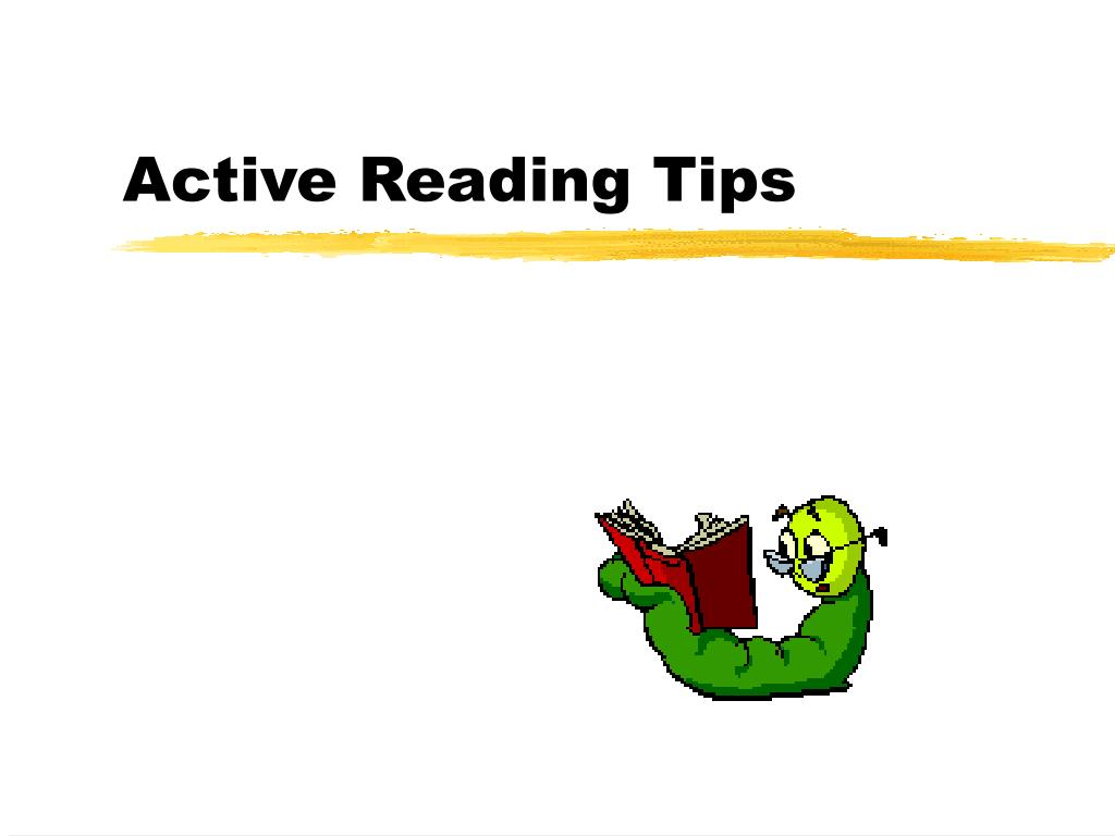 Active Reading Tips