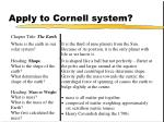 apply to cornell system