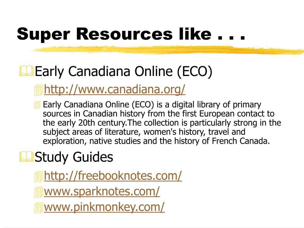 Super Resources like . . .