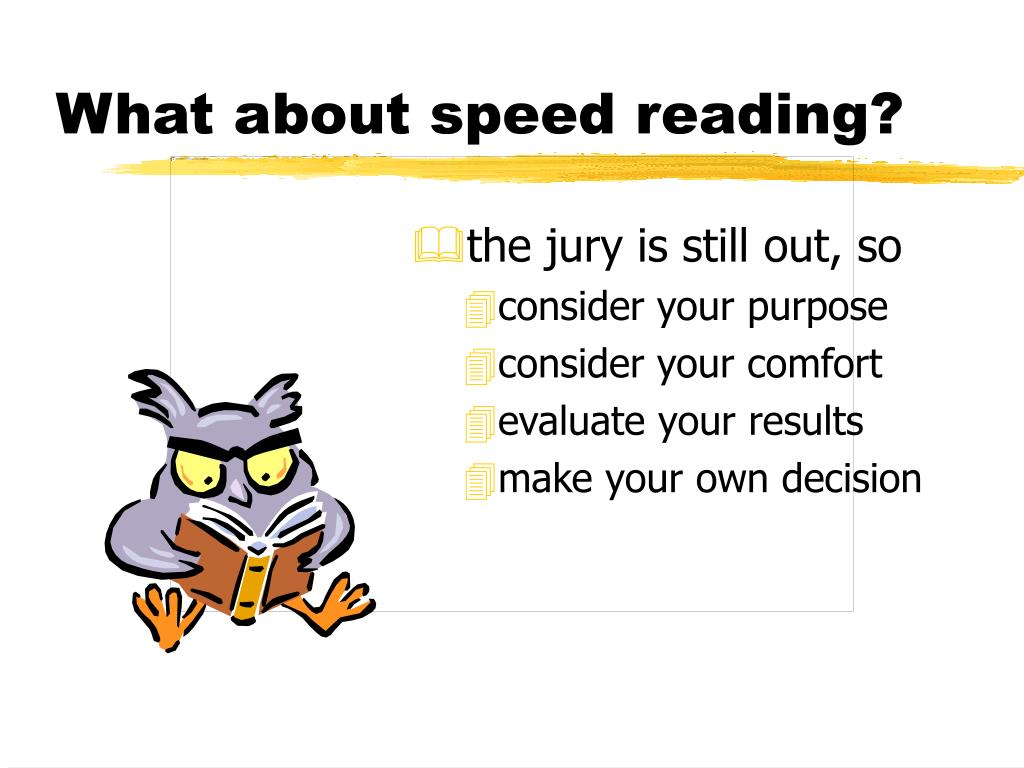 What about speed reading?
