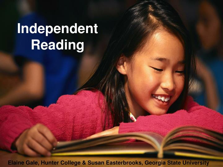 independent reading n.