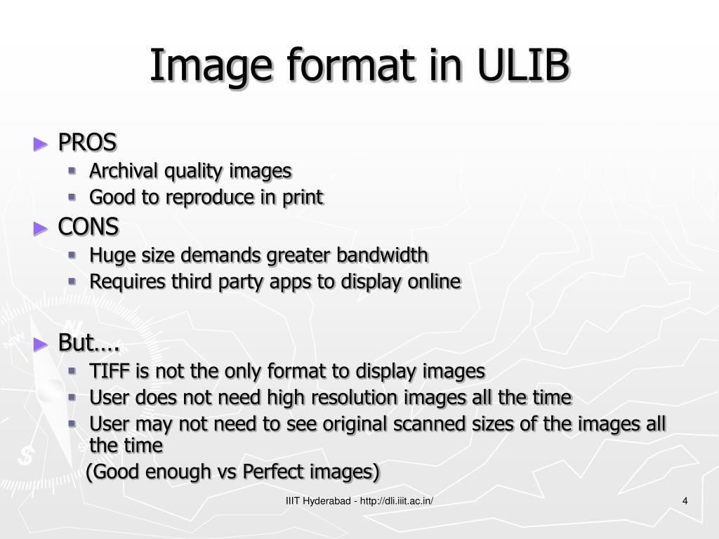 Image format in ULIB
